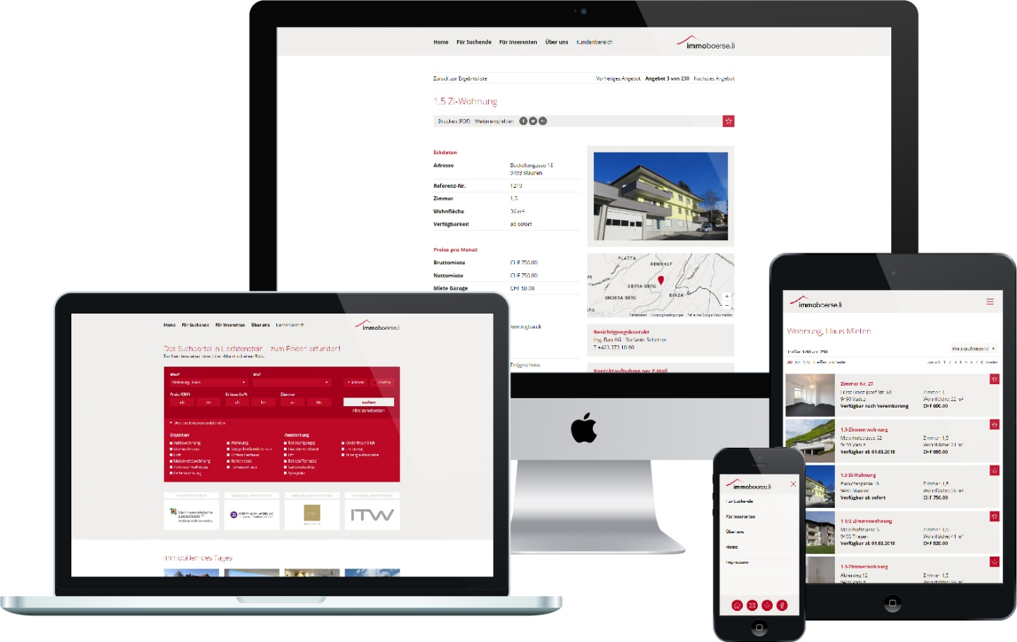 Technology Partners Ltd - Responsive Website, CMS, Immobilienverwaltung